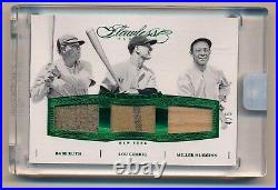 2016 Flawless BABE RUTH LOU GEHRIG HUGGINS Game Used Pinstripe Jersey #4/5