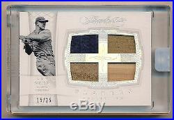 2016 Flawless LOU GEHRIG QUAD Game Used Bat Patch Jersey Relic #15/25