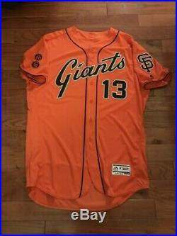 2016 WILL SMITH SF Giants Game Used Worn ORANGE JERSEY MLB Holo SIZE 50 #12 #20