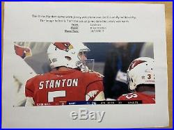 2017 Arizona Cardinals Nike Authentic Home Game Used Jersey Un-washed Stanton