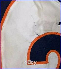 2017 Denver Broncos Nike Authentic Home Game Used Jersey Un-washed Stewart