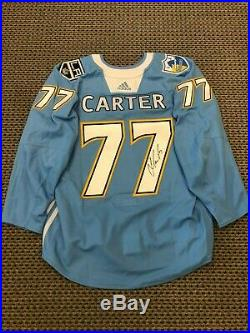 2018-19 Jeff Carter Authentic Game Used Chargers Themed Jersey Auto Coa Kings