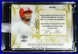 2018-19 Leaf Pearl Ken Griffey Jr Game Used Jersey Autograph Patch Auto /5 Reds