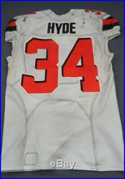 2018 Carlos Hyde Cleveland Browns Game Used Worn Football Jersey! Ohio State