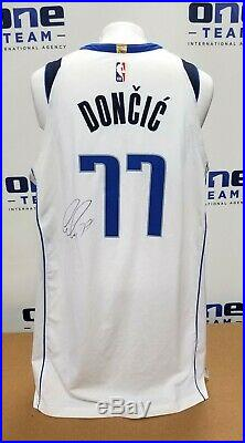2018 Luka Doncic Signed Mavs Game Worn Used Rookie Jersey Sia Auto Photo Matched