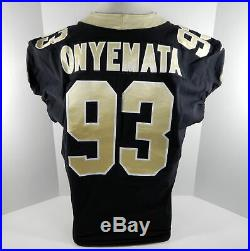 2018 New Orleans Saints David Onyemata #93 Game Used Black Jersey Benson Patch