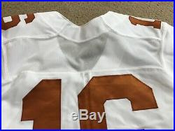 2018 Nike Texas Longhorns Football Game Used Worn Jersey #16 Sz 40 Ex Condition