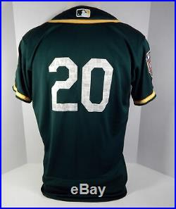 2018 Oakland Athletics As Mark Canha #20 Game Used Green Spring Training Jersey
