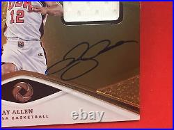 2019-20 Panini Opulence Ray Allen Gold Medal On Card Auto Game-used USA Jersey