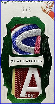 2019 Flawless Mike Trout 6 Color Game Used Dual Logo Jersey Patch 2/3