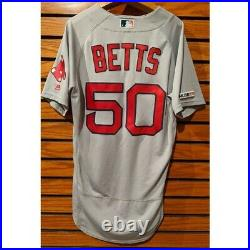 2019 Mookie Betts #50 Game Used Jersey (Red Sox) MLB Authenticated