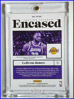 2019 Panini Encased Lebron James Jersey /149 Game Worn Patch Ready for Grading