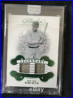 2019 Panini Flawless Babe Ruth Game Used Jersey Patch. Jersey Number 3/5 Yankees