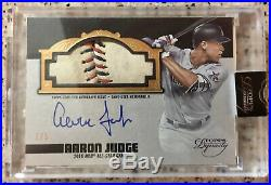 2019 Topps Dynasty Aaron Judge Auto All-Star Game Used Ball # 3/5 Rare
