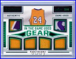 2020 Leaf In the Game Used Kobe Bryant Five Patch Jersey /4 #ITGUG-16 Lakers