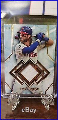 2020 Topps Diamond Icons Bryce Harper Game Used Jersey Relic Auto 3/10