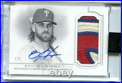2020 Topps Dynasty BRYCE HARPER Game Used Jersey Patch Auto #2/5 PHILLIES SSP