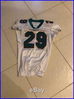 #29 tyrone Culliver of Miami Dolphins 2008 game used jersey great used repair