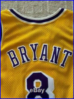 96-97 KOBE BRYANT GAME WORN ROOKIE GOLD JERSEY $60k AT AUCTION! DC SPORTS LOA
