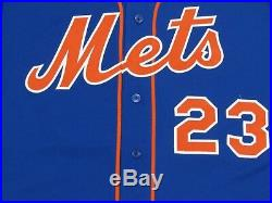 ADRIAN GONZALEZ size 50 2018 New York Mets game used jersey home blue MLB HOLO