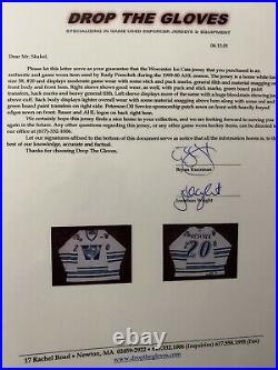 AHL Worcester Ice Cats Enforcer Game Worn Used Hockey Jersey NHL ECHL CHL UHL