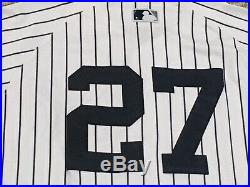 AUSTIN ROMINE #27 size 46 2017 Yankees Game Used Jersey HOME STEINER MLB HOLO