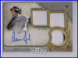 Aaron Judge Auto Game-used Jersey Patch Rc /75 2017 Topps Triple Threads Rookie
