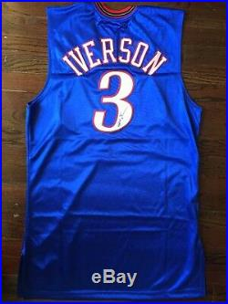 Allen iverson Philadelphia 76ers #3 2005/2006 Signed Game Worn Game Used Jersey
