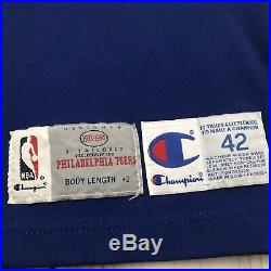 Alphonso Ford Game Used Worn Sixers Alternate Champion Jersey Rare