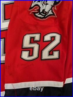 Amazing Dave Andreychuk Game Used Worn Buffalo Sabres Red Alternate Jersey Hof