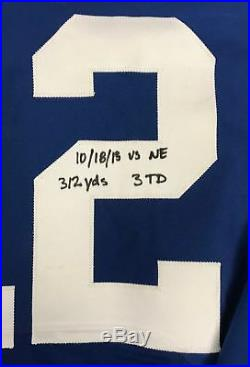 Andrew Luck 2015 Game Used Autographed Indianapolis Colts Jersey PANINI COA