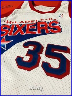 Authentic Philadelphia 76ers Weatherspoon Game Used Jersey Sewn Procut Iverson