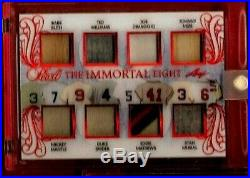 BABE RUTH BAT CARD MICKEY MANTLE TED WILLIAMS DIMAGGIO JERSEY LEAF #d3/6 1 OF 1
