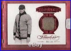 BABE RUTH FLAWLESS GAME USED JERSEY CARD #d4/20 LOU GEHRIG'S JSY # 2017 PANINI