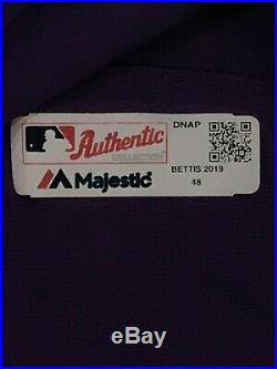 BETTIS size 48 #35 2019 COLORADO ROCKIES game used JERSEY team issued MLB HOLO