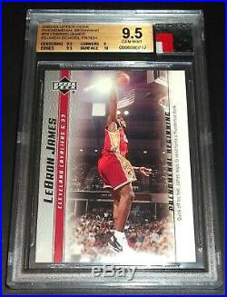 BGS 9.5 Rc Lebron James Rookie Jersey Game Used High School Patch 2003-04 UD #18
