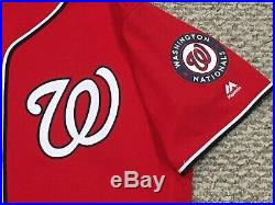 BRYCE HARPER sz 48 #34 2016 Washington Nationals game used jersey issued Spring