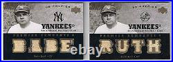 Babe Ruth 2007 Ud Premier Game Used 8 Piece Jersey # 4/5 Ny Yankees Hof Ssp