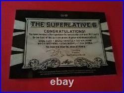 Babe Ruth Bat Card Mickey Mantle Ted Williams Berra Stan Musial Jersey # 1 Of 1