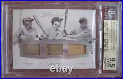 Babe Ruth / Lou Gehrig / Bob Meusel Panini Flawless 9.5 Bgs Game Used Jersey/bat