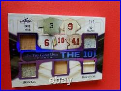 Babe Ruth Mickey Mantle Ted Williams Willie Mays Musial Jersey Bat Card Leaf 1/7