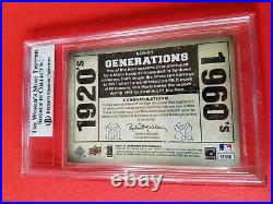 Babe Ruth & Roger Maris Game Used Jersey & Bat Card Graded Bgs 8 Nm Mint Yankees