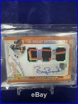 Barry Bonds Autograph 1/1 2016 Pantheon Game Used Jersey/ Auto One Of One Giants