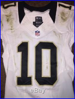 Brandin Cooks New Orleans Saints Game Used Worn Jersey Patriots Rams Super Bowl