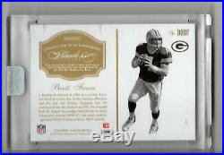Brett Favre Auto Game-used Jersey Logo Patch /5 2016 Panini Flawless Autograph