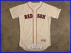 Brock Holt Game Used Worn (TI) 2016 Boston Red Sox MLB Baseball Jersey