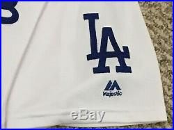 CASTRO size 48 #13 2017 LA Dodgers game used jersey home white POST MLB HOLO