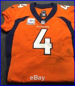 Case Keenum Crucial Catch (10/14/18) Game Used Photo Matched Jersey (NFL COA)