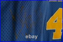 Chris Webber Golden State Warriors Signed Rookie Game Used Jersey Mullen loa