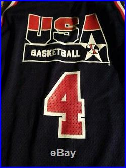 Christian Laettner Game Used Team USA Jersey dream team. Grey Flannel Cert